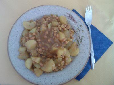 fazole s brambory