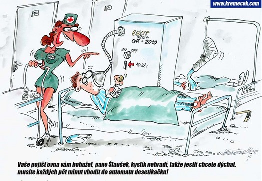 kyslík zdr. pojišťovny