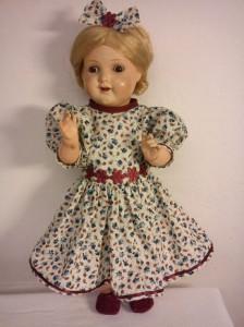 Panenka Terezka - šatičky s kvítky